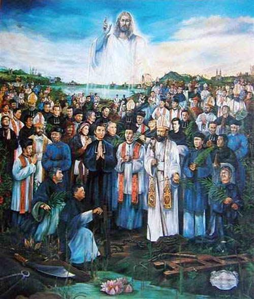y nghia buc hoa cac thanh tu dao viet nam 1 1 - Ý nghĩa bức họa Các Thánh Tử Đạo Việt Nam