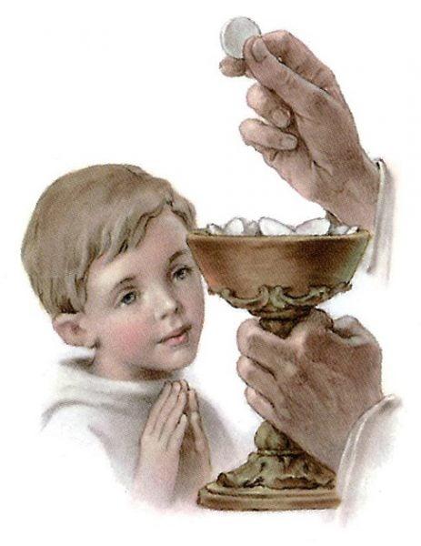 ve su cho tre em ruoc le 463x600 - Về sự cho trẻ em rước lễ