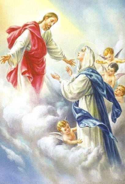 assumption 1 408x600 - Đức Mẹ hồn xác lên trời?