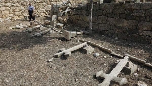 mot vu pham thanh moi tai nghia trang cong giao o beit jamall 600x338 - Một vụ phạm thánh mới tại nghĩa trang Công Giáo ở Beit Jamal