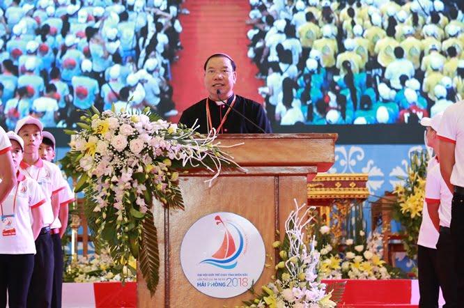 hdv 8584 1 - Đại hội Giới trẻ giáo tỉnh Miền Bắc lần thứ XVI: Nghi thức khai mạc
