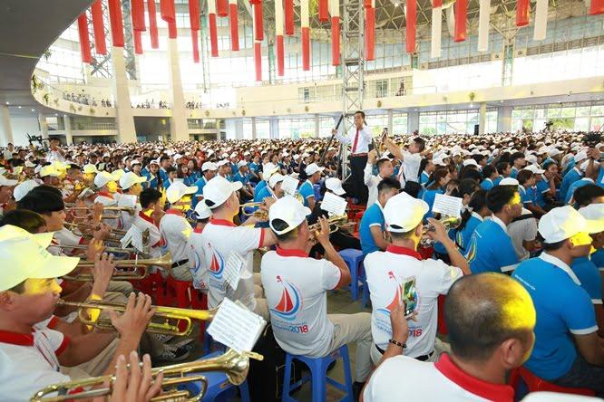 sphi5188 - Đại hội Giới trẻ giáo tỉnh Miền Bắc lần thứ XVI: Nghi thức khai mạc