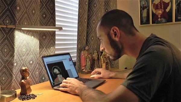 ve tranh cac thanh bang nhiep anh va do hoa hien dai 2 - Vẽ tranh các thánh bằng nhiếp ảnh và đồ họa hiện đại