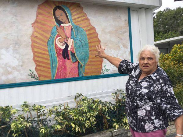 """milliefrancis 600x450 - Bà cụ 85 tuổi nói: """"Ai muốn gỡ bỏ bức tranh Đức Mẹ của tôi, giết tôi trước đã"""""""