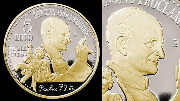 Tiền xu và tem về Đức Phaolô VI và cha thánh Piô 1