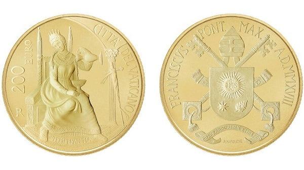 tien xu va tem ve duc phaolo vi va cha thanh pio 2 - Tiền xu và tem về Đức Phaolô VI và cha thánh Piô