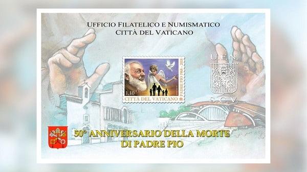 tien xu va tem ve duc phaolo vi va cha thanh pio 4 - Tiền xu và tem về Đức Phaolô VI và cha thánh Piô