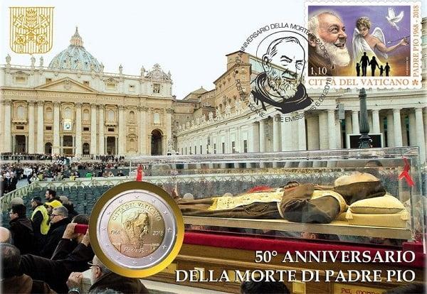 tien xu va tem ve duc phaolo vi va cha thanh pio 5 - Tiền xu và tem về Đức Phaolô VI và cha thánh Piô