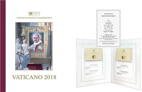 Tiền xu và tem về Đức Phaolô VI và cha thánh Piô 6