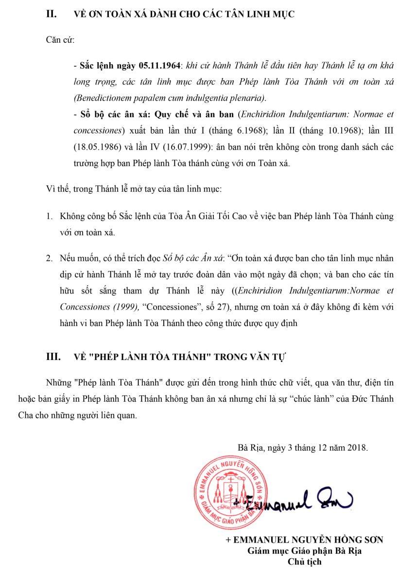 ve viec ban phep lanh toa thanh voi on toan xa 2 - Về việc ban phép lành tòa Thánh với ơn toàn xá