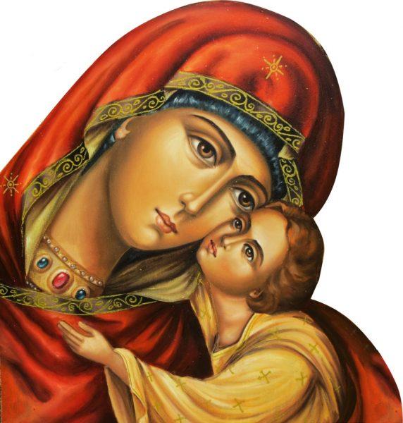 vai suy tu khi chiem ngam icone duc me va chua hai dong 572x600 - Vài suy tư khi chiêm ngắm icône Đức Mẹ và Chúa Hài Đồng