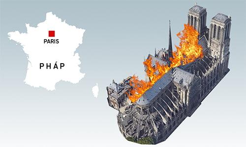 chay lon tai nha tho duc ba paris 2 - Cháy lớn tại Nhà thờ Đức Bà Paris