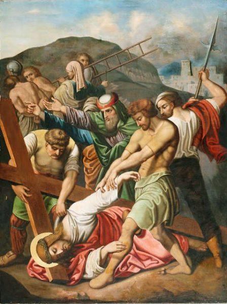 chua gie su nga ba lan e1555724502325 - Chúa Giê-su ngã ba lần