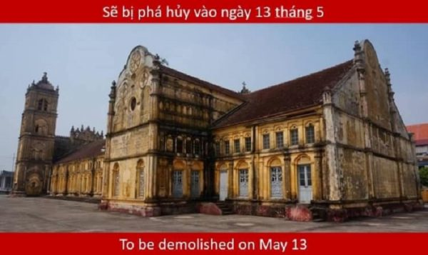 buichu 02 600x357 - Nhà thờ Bùi Chu 134 năm tuổi sẽ bị đập bỏ
