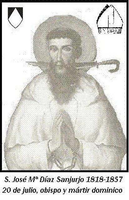 Thánh Giuse DIAZ SANJURJO AN, Giám mục dòng Đaminh (1818-1857)