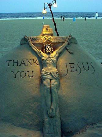 tuong chua 3 - Những bức tượng Chúa được làm từ Cát tuyệt đẹp