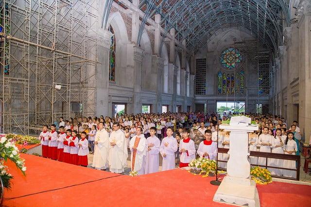 16094 nhu thuc 3 - Giáo họ Như Thức: Mừng lễ quan thày tại nhà thờ đang xây dựng