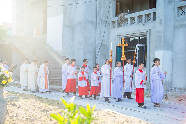 16094 nhu thuc 4 - Giáo họ Như Thức: Mừng lễ quan thày tại nhà thờ đang xây dựng