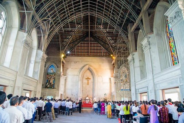 16094 nhu thuc 6 - Giáo họ Như Thức: Mừng lễ quan thày tại nhà thờ đang xây dựng