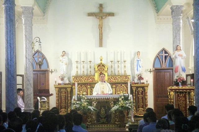 16124 quan thay 3 - Giáo họ Kiện mừng lễ Đức Maria Trinh  Nữ Vương quan thầy