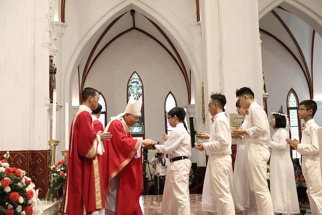 16136 them suc 11 - Thánh lễ ban Bí tích Thêm sức tại Nhà thờ Chính Tòa Hà Nội