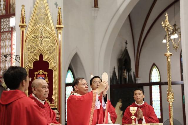 16136 them suc 12 - Thánh lễ ban Bí tích Thêm sức tại Nhà thờ Chính Tòa Hà Nội