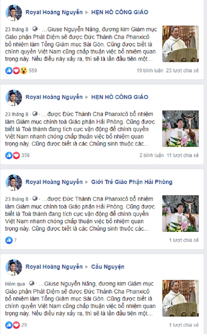 bo nhiem giam muc - Tin đồn thổi về việc bổ nhiệm các giám mục Việt Nam