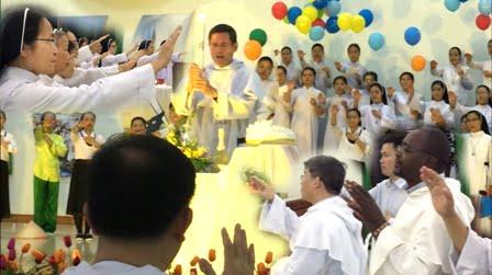 hinh chuc lanh - Thánh Lễ Tạ Ơn và Nghi thức Khấn Lần Nhất của 21 Tân Khấn Sinh do Cha Bề Trên Tổng Quyền Dòng Đa Minh chủ sự