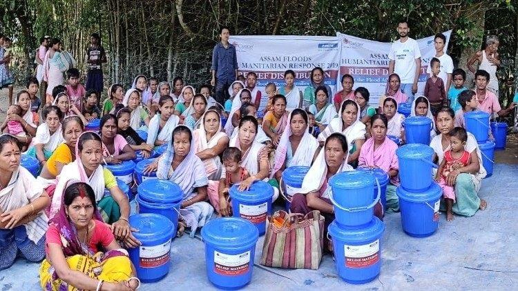 india 4 - Caritas Ấn Độ hỗ trợ nạn nhân lũ lụt