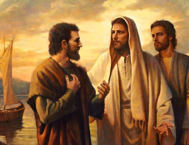 jesus and peter - Đi theo Chúa