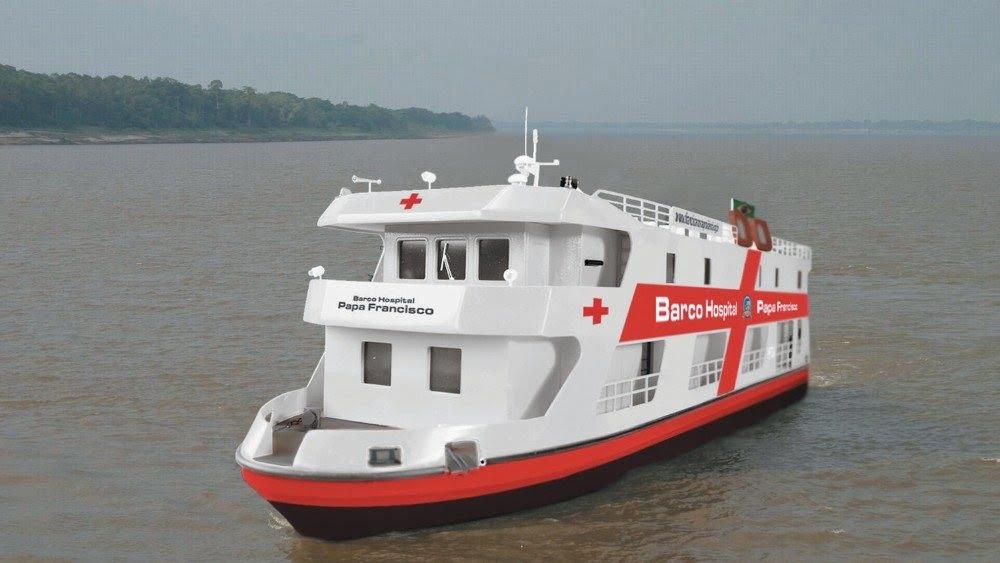 """tau benh vien - ĐTC viết thư chúc mừng tàu bệnh viện """"ĐGH Phanxicô"""" đã đến Belem của Brazil"""