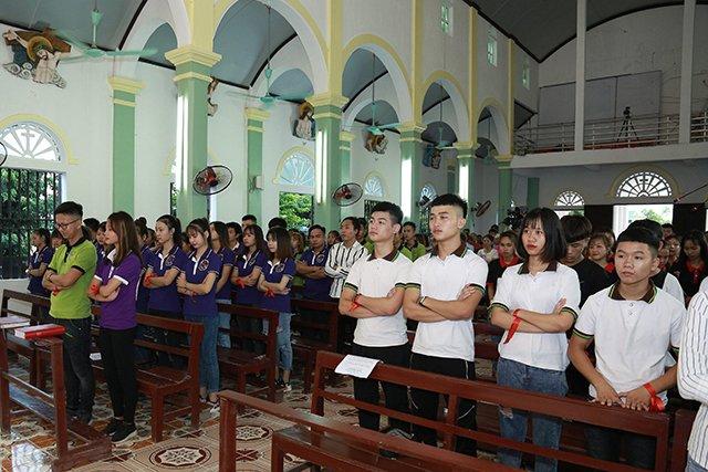 16173 phong doanh 5 - Giới trẻ giáo họ Phong Doanh quyết tâm theo gương thánh Quan thầy