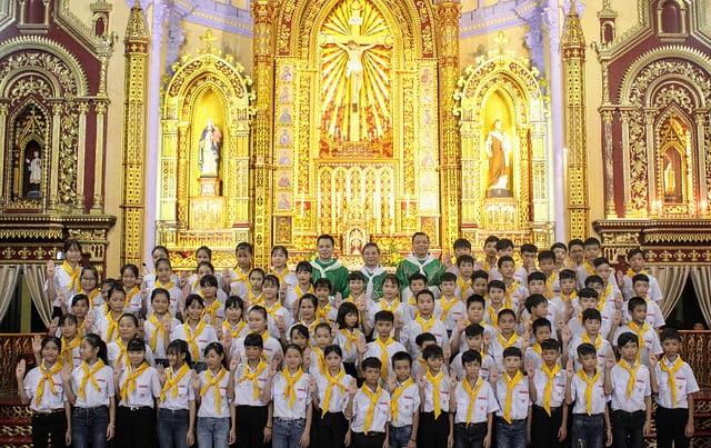 16174 xu doan phero hieu 7 - Lễ ra mắt xứ đoàn Phêrô Hiếu tại Giáo xứ Tiêu Động Thượng