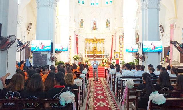 16191 gioi tre 1 - Giới trẻ giáo xứ Mạc Thượng mừng lễ quan thầy Thánh Augustino