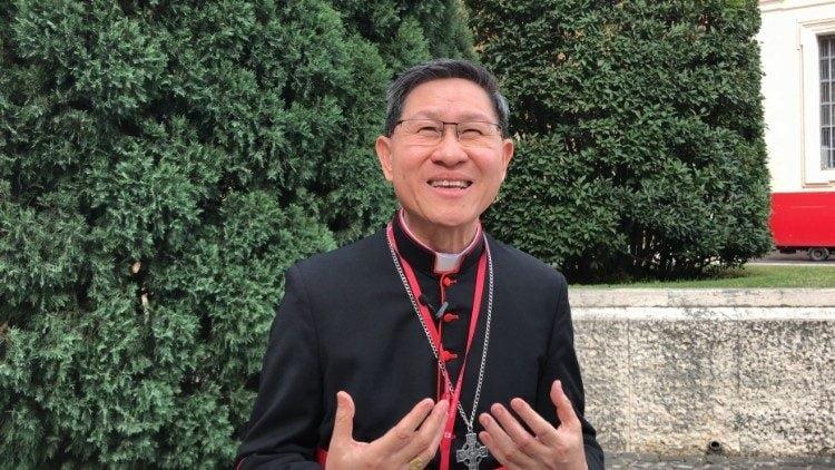 2018 10 16 sinodo giovani card luis antonio tagle arcivescovo di manila filippine 750x422 - ĐHY Tagle sẽ rửa tội cho 450 trẻ em đường phố ở Manila