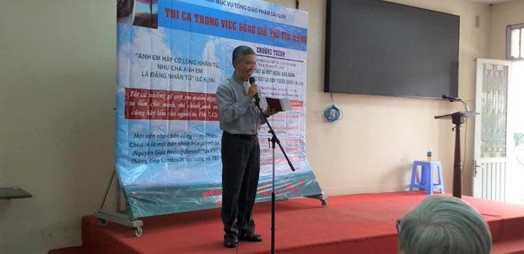 """25092019 104855 2 750x364 - Buổi sinh hoạt chuyên đề """"Thi ca trong việc sống các giá trị Tin Mừng"""" tại Trung tâm Mục vụ TGP. Sài Gòn"""