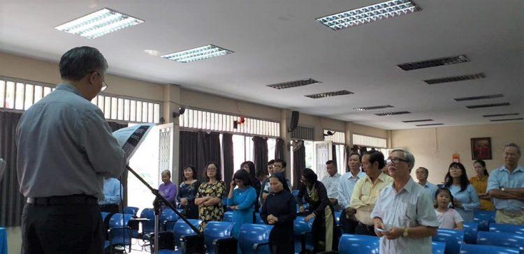 """25092019 104855 3 750x364 - Buổi sinh hoạt chuyên đề """"Thi ca trong việc sống các giá trị Tin Mừng"""" tại Trung tâm Mục vụ TGP. Sài Gòn"""