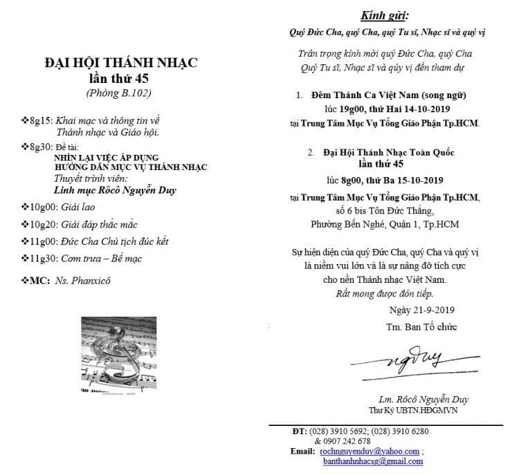 dai hoi thanh nhac 2 750x687 - Ủy ban Thánh nhạc: Thư mời Đại hội Thánh nhạc lần thứ 45