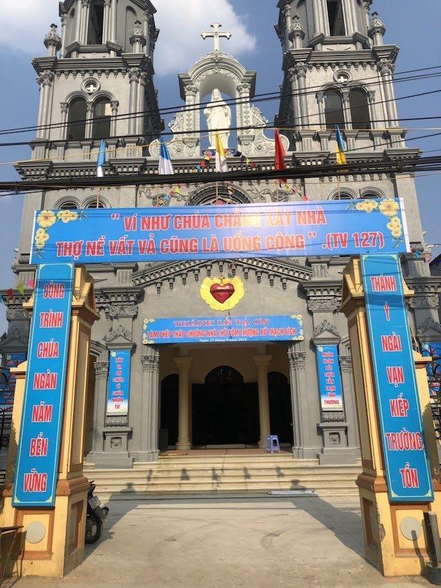 xom thuong4 - Lám phép tháp chuông nhà thờ Xóm Thượng - giáo xứ Thạch Bích