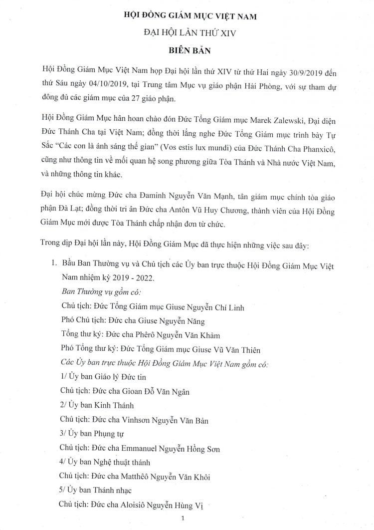 0001422743 750x1062 - Biên bản Đại hội XIV Hội đồng Giám mục Việt Nam