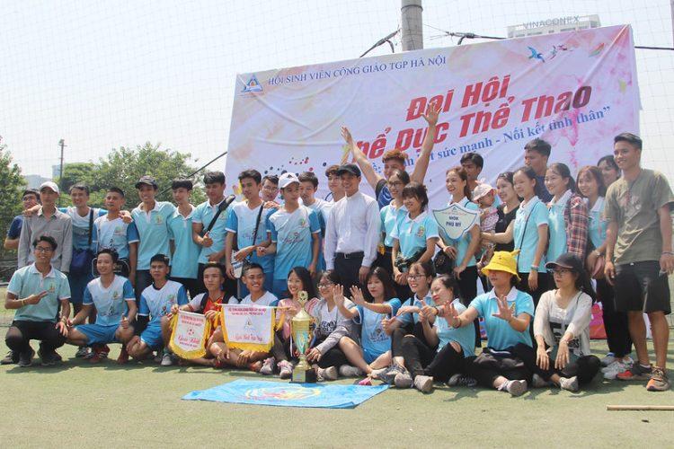 16392 dai hoi tdtt 3 750x500 - Đại hội thể thao sinh viên Công giáo Tổng Giáo phận Hà Nội: Nâng chất - nâng tài