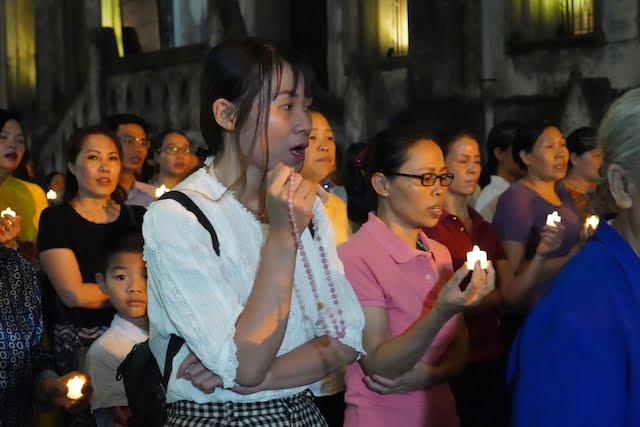 16430 chinh toa6 - Giáo xứ Chính Tòa Hà Nội khai mạc Thánh Mân Côi 2019