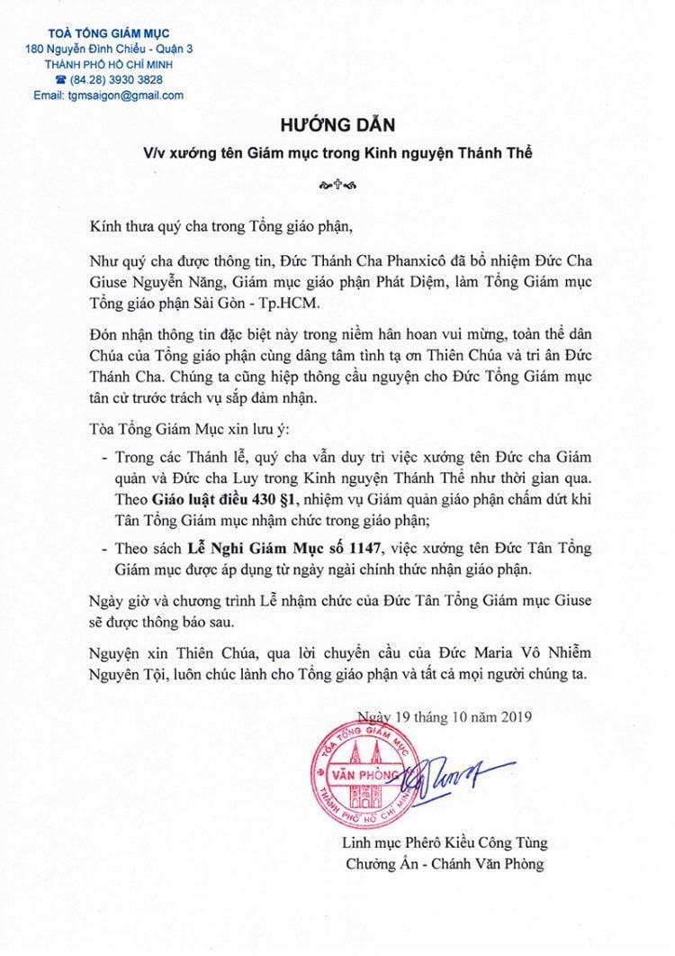 huong dan xuong ten giam muc 2 750x1061 - Hướng dẫn xướng tên Giám mục trong Kinh nguyện Thánh Thể