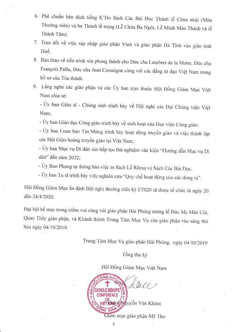 to 3 bien ban page 001 750x1066 - Biên bản Đại hội XIV Hội đồng Giám mục Việt Nam